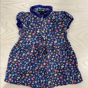 RALPH LAUREN BLUE FLORAL DRESS 18MONTHS